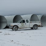 Culverts for new access road wash crossings.