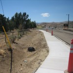 Completed Storm Drain and Pedestrian Path Improvements