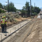 Concrete Forms and Rough Ditch Grading